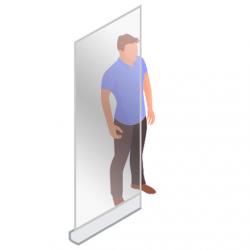 ViewRoll Large 120 x 205 cm - Preventie Scherm en Afscheidingswand - Transparante rollup banner als corona scherm