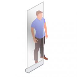 ViewRoll 80 x 205 cm  - Paroi de prévention et paroi de séparation - Bannière transparente enroulable comme paroi corona