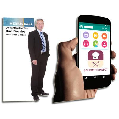lifesizer standee toepassing - zakelijk bedrijf en promotie
