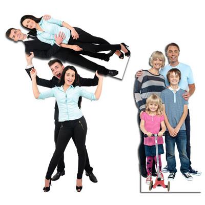 lifesizer standee toepassing - familie en vrienden