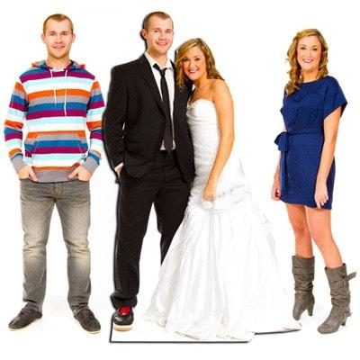lifesizer standee toepassing - bruiloft trouwfeest