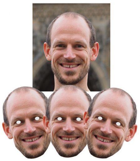 gepersonaliseerd masker in karton van man