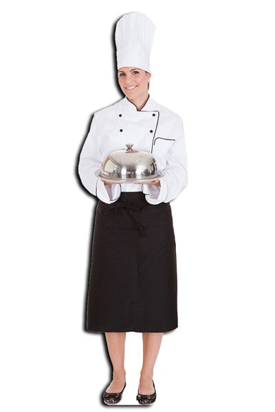 lifesizer standee toepassing - kokkin beroep op beurs