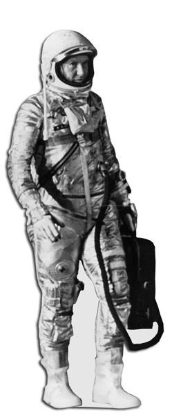 levensgrote foto of standee gemaakt van archief foto astronaut