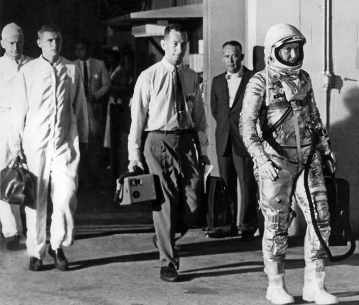 archief foto astronaut