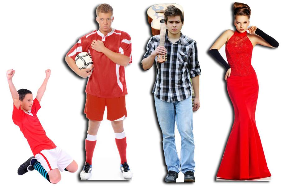 levensgrote pop of lifesizer van beroemde mensen zangers voetballers