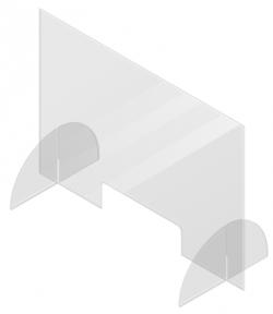 preventiescherm - baliescherm - spatscherm - coronascherm - scherm voor toonbank - kuchscherm