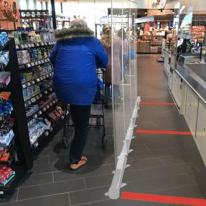 ViewRoll paroi de prévention comme séparation transparente au magasin 2