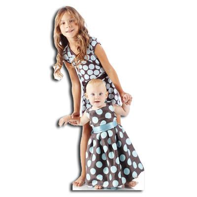 les petites filles silhouette découpée