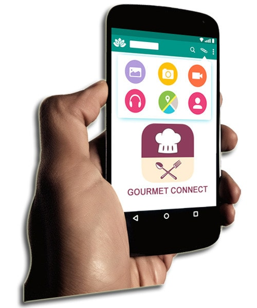 lifesizer standee toepassing - promotie van nieuwe smartphone app